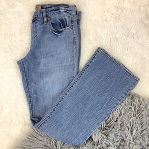 Old navy Jeans low waist Flare Medium Wash Stretch